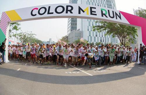 Color Me Run, Đường chạy sắc màu, Uyên Linh, Min, Nhóm 365, Phạm Anh Khoa