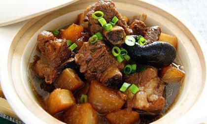 thịt kho củ cải, món ăn mùa đông, củ cải kho