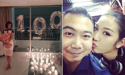 Kỉ niệm 100 ngày yêu, bạn trai đại gia làm điều 'ngôn tình' nhất cho Á hậu Thúy Vân