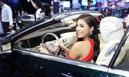 Hoa hậu Kỳ Duyên quyến rũ tham dự triển lãm Ô tô Quốc tế Việt Nam 2016