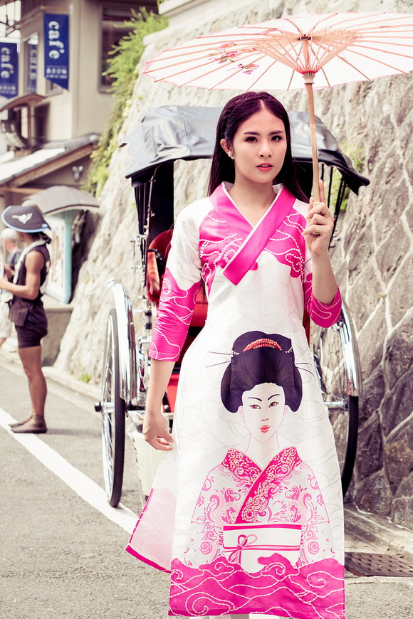 Ngọc Hân khoe dáng trên đất Nhật 1