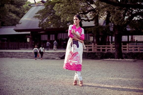 Ngọc Hân khoe dáng trên đất Nhật 8