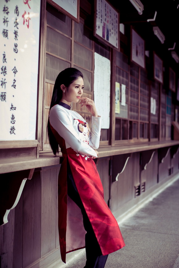 Ngọc Hân khoe dáng trên đất Nhật 5
