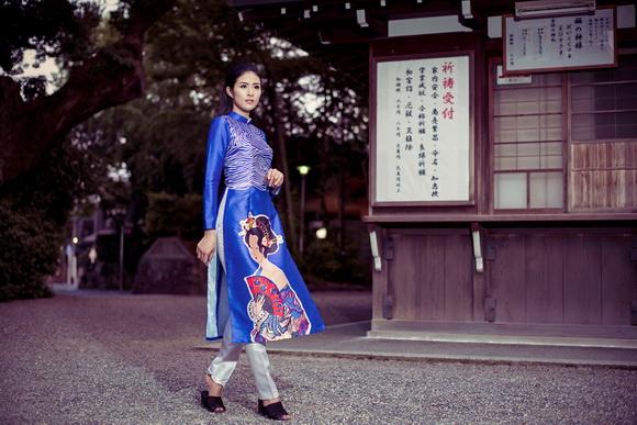Ngọc Hân khoe dáng trên đất Nhật 3