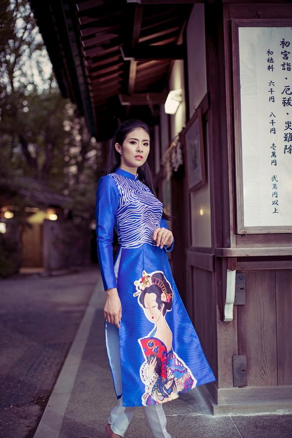 Ngọc Hân khoe dáng trên đất Nhật 2