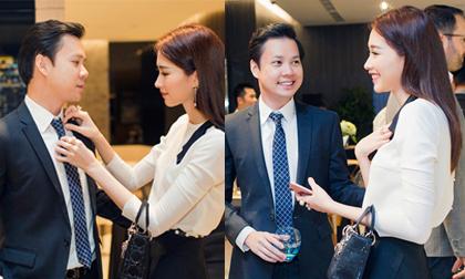 Hoa hậu Đặng Thu Thảo công khai tình tứ với bạn trai tại sự kiện