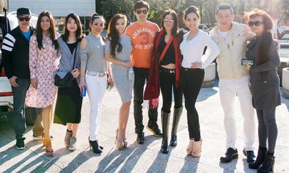 Nam vương, Hoa hậu, Á hậu của Minh Chánh làm từ thiện tại Santa Ana