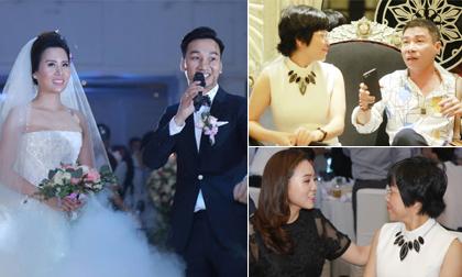 Cập nhật đám cưới MC Thành Trung: Thảo Vân - Công Lý nói chuyện vui vẻ khi gặp mặt tại hôn lễ