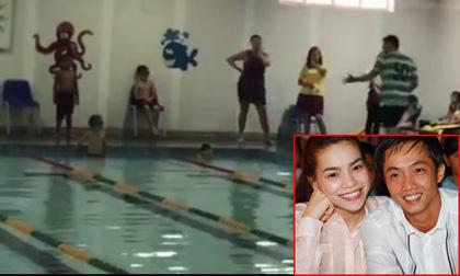 Hồ Ngọc Hà và Cường Đô la lại bên nhau cổ vũ con trai Subeo thi bơi