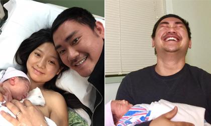Diễn viên Khánh Hiền hạ sinh con đầu lòng, chồng mừng 'rơi nước mắt'