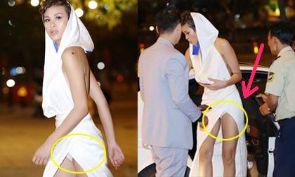Chiếc váy của Phương Mai bên trên đã quái dị, bên dưới còn gây sốc hơn
