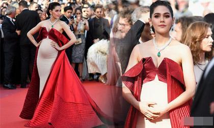 Bầu 5 tháng, mỹ nhân Thái vẫn khiến cả thảm đỏ Cannes phải sững sờ và tấm tắc