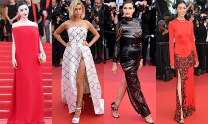 Phạm Băng Băng 'đỏ' cổ điển bên cạnh dàn sao chuộng váy cắt xẻ trên thảm đỏ LHP Cannes ngày 8