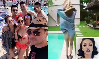 Tin sao Việt mới 28/6/2017: Thúy Nga được trai đẹp vây quanh khi khoe ngực, Mai Ngô lộ nguyên vòng ba trước ống kính