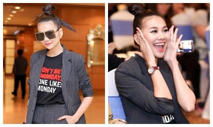 Thanh Hằng lại gây thương nhớ với phong cách menswear, quẩy hết mình trong buổi offline fan