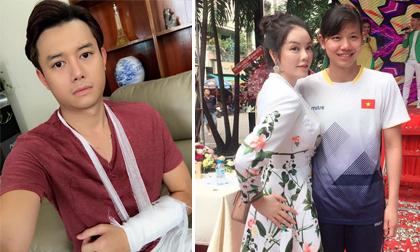 Tin sao Việt 26/9/2017: Anh Dũng gãy tay khiến fans lo lắng, Lý Nhã Kỳ hết lời khen ngợi Ánh Viên