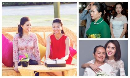 Bất ngờ trước dung nhan 'mẫu thân' của các mỹ nhân Việt cực kín tiếng
