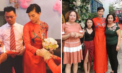 Hình ảnh Ngô Thanh Vân mặc áo dài trong lễ rước dâu gây xôn xao mạng xã hội