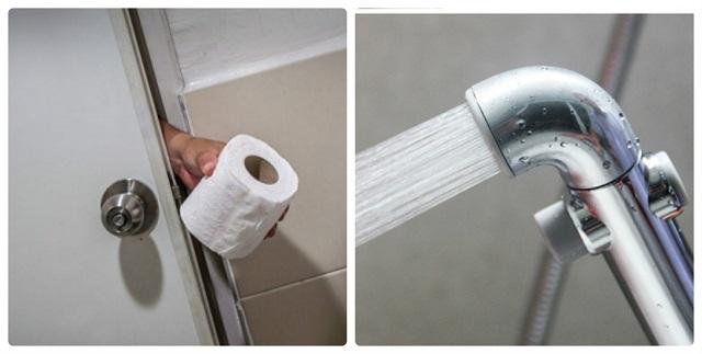 Nên dùng vòi xịt hay giấy khi đi vệ sinh?