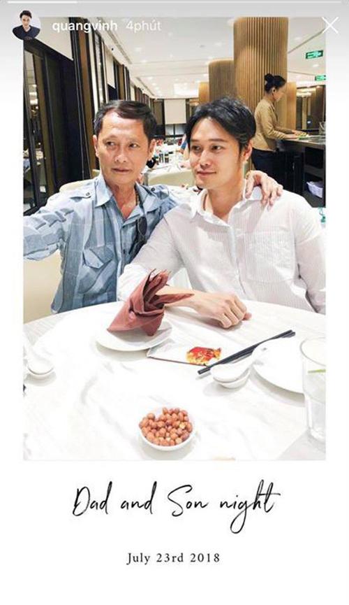 Quang Vinh lần đầu đăng ảnh cha sau khi phủ nhận con nhà 'trâm anh thế phiệt'