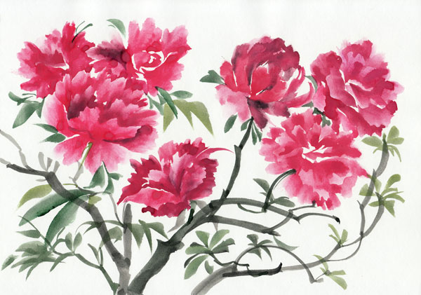 Treo tranh hoa mẫu đơn trong nhà, treo tranh phải đúng hướng, độc thân sẽ tìm được tình yêu nếu treo tranh hoa mẫu đơn trong nhà