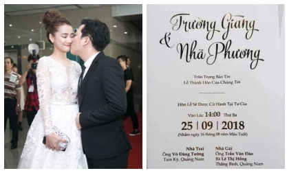 Nhã Phương, Trường Giang, sao Việt,đám cưới trường giang nhã phương
