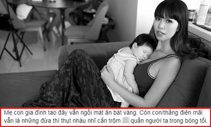 Hà Anh, siêu mẫu Hà Anh, nuôi con bằng sữa mẹ