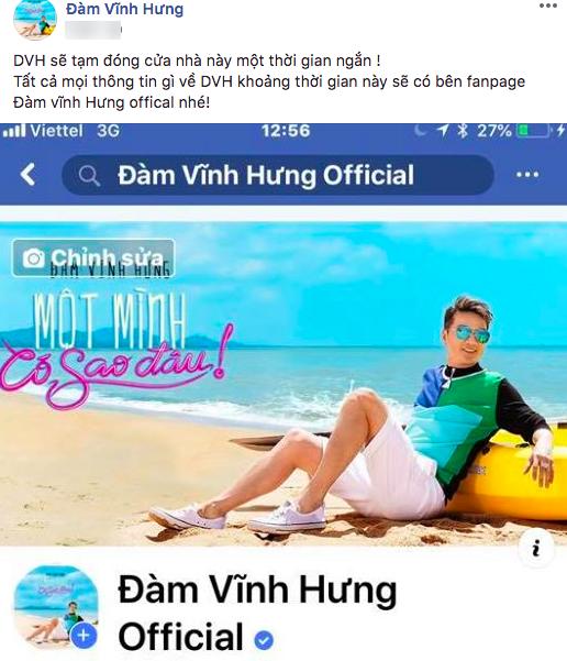 Đàm Vĩnh Hưng, facebook Đàm Vĩnh Hưng, sao Việt