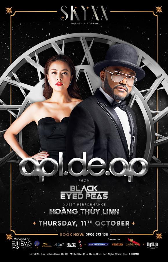 Hoàng Thuỳ Linh, Black Eyed Peas, rapper Apl.de.ap