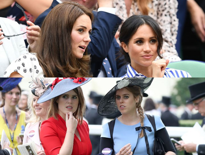 Kate Middleton,Meghan Markle,Beatrice,Eugenie,Hoàng gia Anh