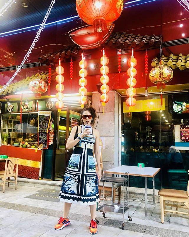 Chompoo Araya,sao Thái Lan,Chompoo Araya du lịch Nhật Bản