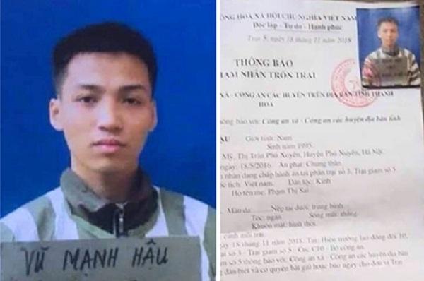 Công an truy lùng tù nhân chung thân trốn khỏi trại tại Thanh Hóa