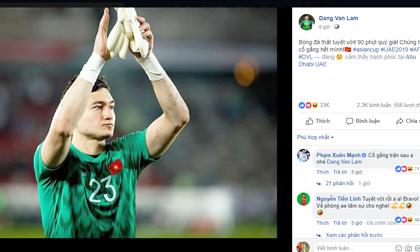 Văn Lâm, ĐT Việt Nam, Asian Cup 2019, ngôi sao, hậu trường