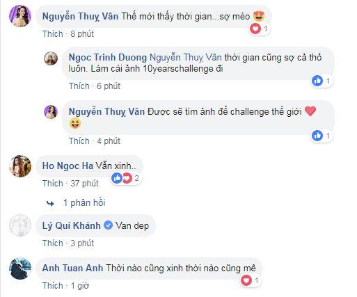 sao Việt, thử thách 10 năm, 10 years challenge