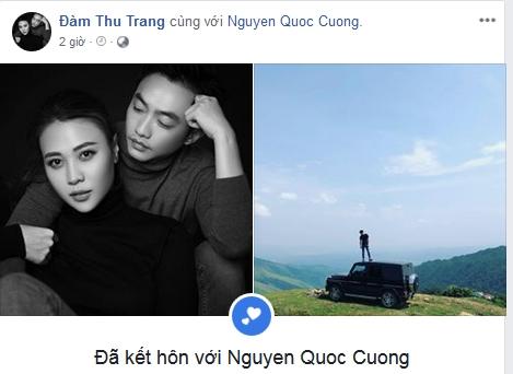 Đàm Thu Trang, Cường Đô La