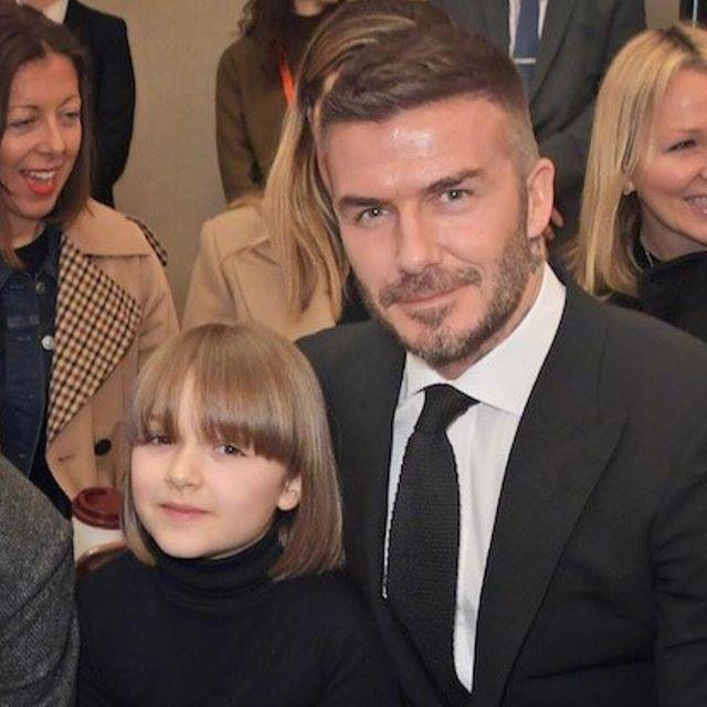 david beckham, con của david beckham, victoria beckham, tuần lễ thời trang london