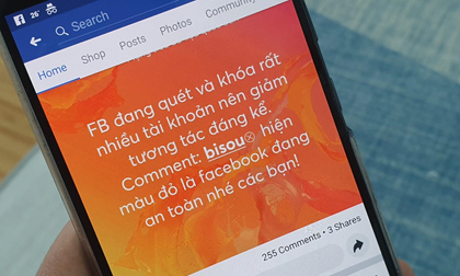Lợi dụng Facebook gặp sự cố, dân mạng lại tung trò lừa 'bisou' để kiểm tra an toàn