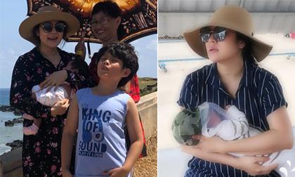 Chẳng quá kiêng cữ, con hơn 1 tháng diễn viên Thanh Thúy đã cho bé ra đảo
