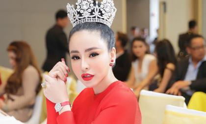 """Hoa hậu Hạ My """"phủ"""" hàng hiệu tiền tỷ ngồi """"ghế nóng"""" Hoa hậu điện ảnh"""