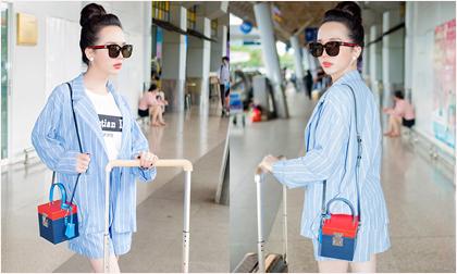 Hot girl Trần Đoàn nổi bần bật tại phi trường với set đồ 140 triệu qua loạt ảnh chụp trộm