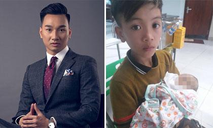 MC Thành Trung cùng loạt sao Việt rơi nước mắt khi em trai cậu bé đạp xe 103km từ Sơn La về Hà Nội đã qua đời