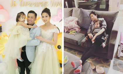 Mệt mỏi khi chăm con một mình, bà xã Lam Trường từng ước chồng là người bình thường