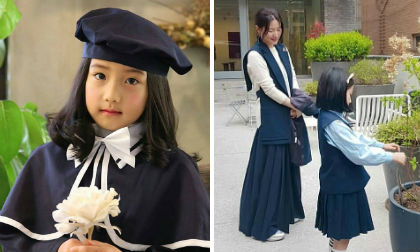 """Nàng """"Dae Jang Geum"""" đã đẹp, con gái 8 tuổi còn lấy đủ gen tốt từ mẹ như thế này"""