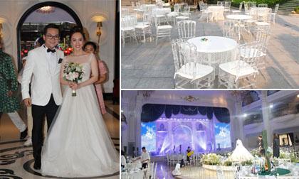 Không gian đám cưới hoành tráng của NSND Trung Hiếu và vợ kém 19 tuổi ở Hà Nội