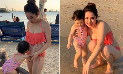Bảo Trâm Idol tự tin mặc bikini khoe bụng bầu trong kỳ nghỉ ở Singapore