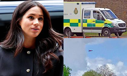 Cấm nhân viên dùng bãi đỗ xe gần nhà mới nhưng lại xuất hiện xe cứu thương, liệu Meghan đang chuyển dạ?