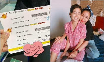 Nhờ chồng chăm con đang ốm sốt, Ốc Thanh Vân đưa Mai Phương đi Bhutan để cầu bình an, sức khỏe
