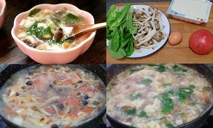 Cách làm canh đậu hũ nấm siêu đơn giản giúp tăng sức đề kháng, lại còn giảm cân