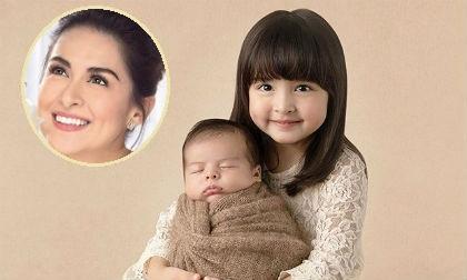 """2 thiên thần nhí nhà """"Mỹ nhân đẹp nhất Philippines"""" khiến fan tan chảy vì quá đáng yêu"""