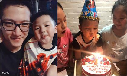 Chí Nhân tổ chức sinh nhật 4 tuổi cho con trai, vợ cũ Thu Quỳnh vắng mặt